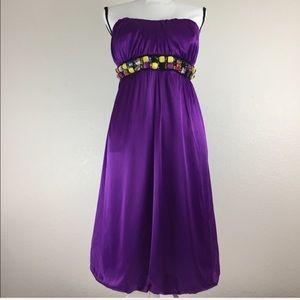 Torrid Purple Strapless Dress. K2